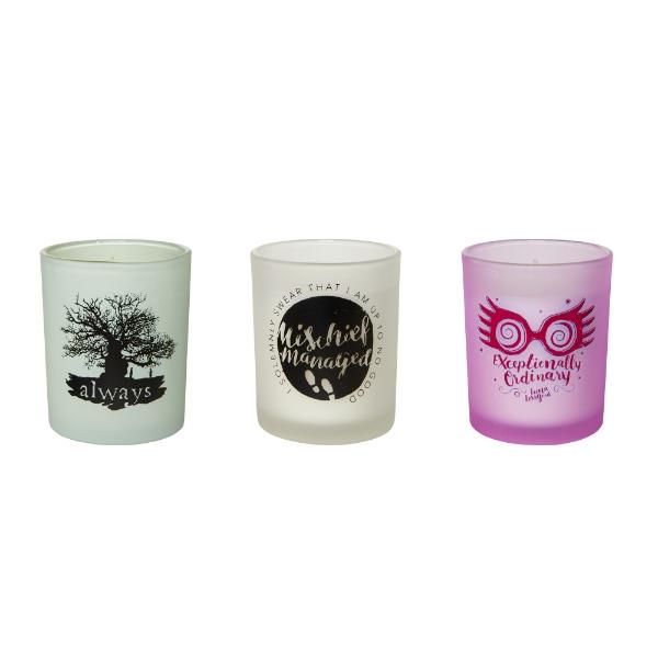 0783a92be4b Harry Potter Glass Votive Candles (Set of Three) | Harry Potter ...