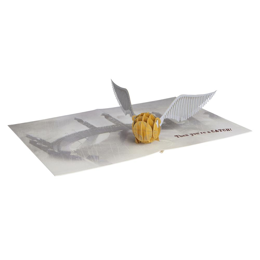Harry Potter Pop-Up Card - Golden Snitch