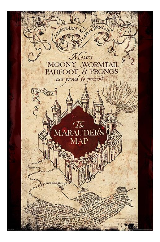 Harry Potter Poster - Marauders Map - The Shop That Must Not Be Named